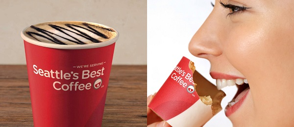 Best coffee in edible coffee cups KFC UK