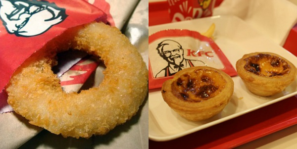 Egg tart and shrimp donuts KFC Thailand