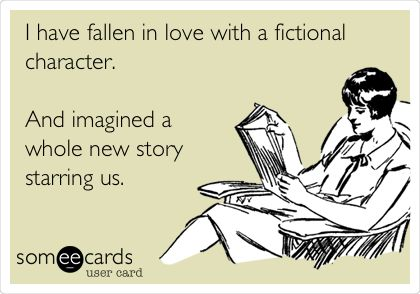 Having a crush on fictional characters