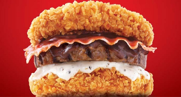 Zinger Double Down KFC Korea