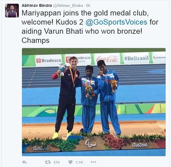 Abhinav Bindra Tweets