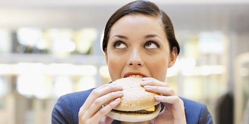 eating fast food