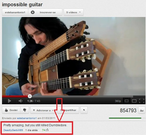 impossible guitar youtube