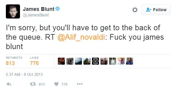 James Blunt Twitter