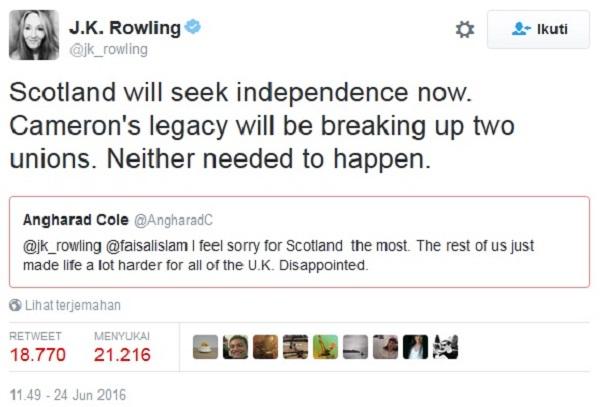 J.K. Rowling Tweets