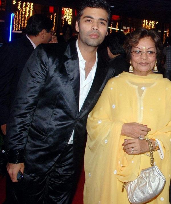 Karan with his mother
