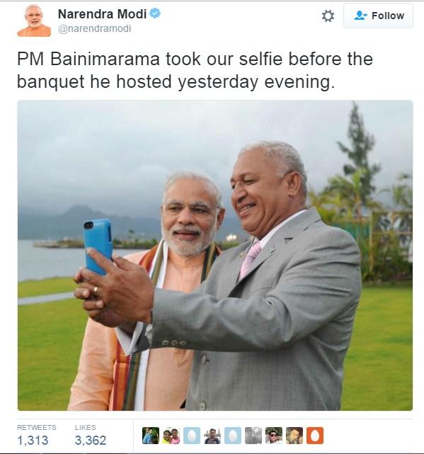 Modi with Fiji Bainimarama