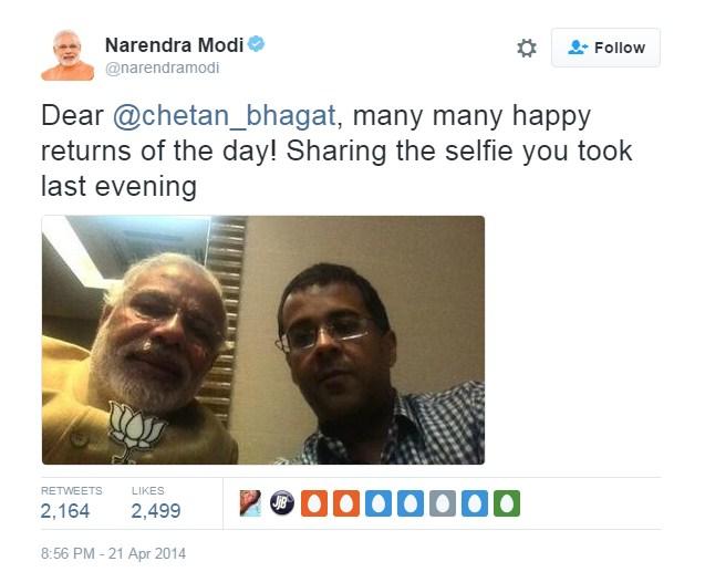 Modi With Chetan Bhagat