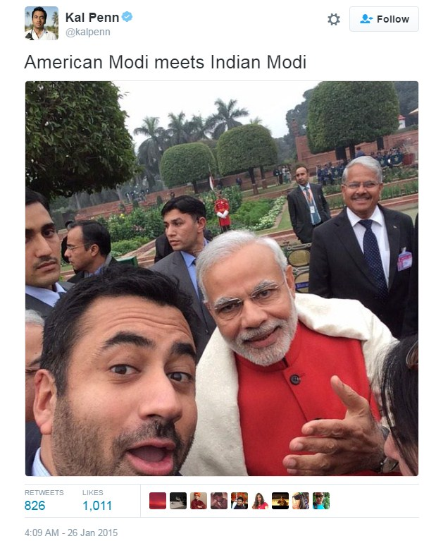 Modi with Kal Penn