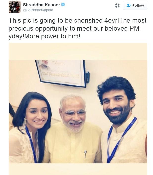 Modi With Shraddha Kapoor and Aditya Roy Kapoor