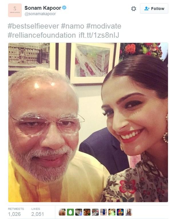 Modi With Sonam Kapoor