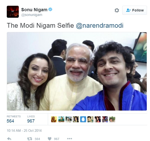 Modi With Sonu Nigam
