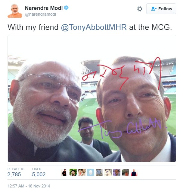 Modi With Tony Abbot