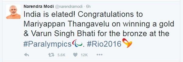 narendra modi tweets