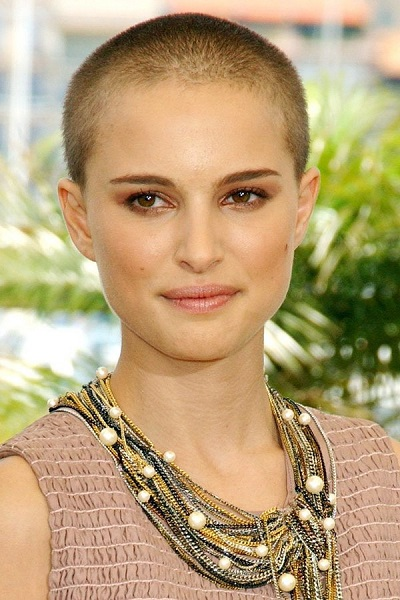 natalie portman bald head