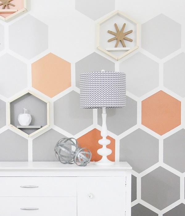 Ombre Hexagons