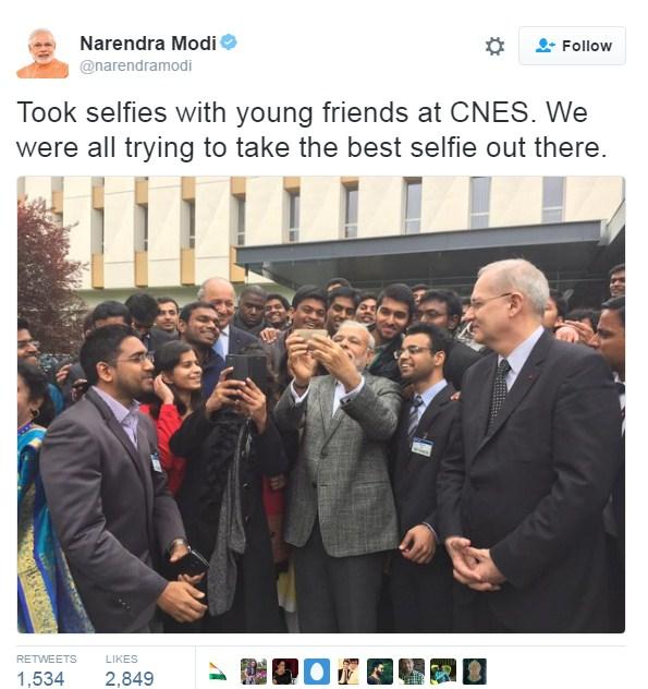 PM Modi Selfies