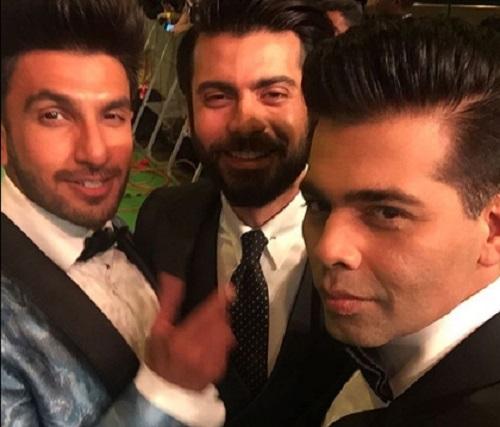Ranveer Singh with Karan Johar and Fawad Khan