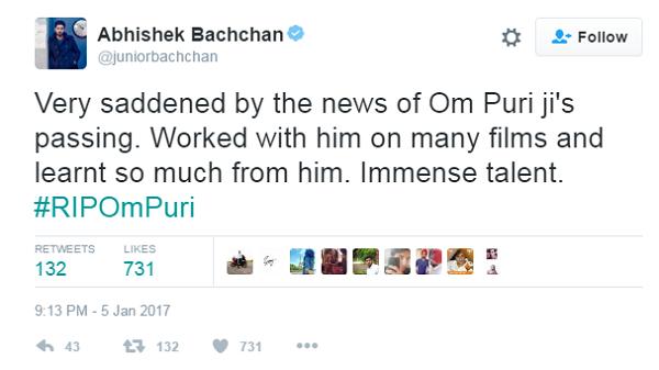 abhishek tweet om puri