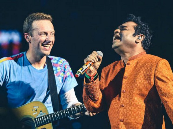 chris martin and A R Rahman