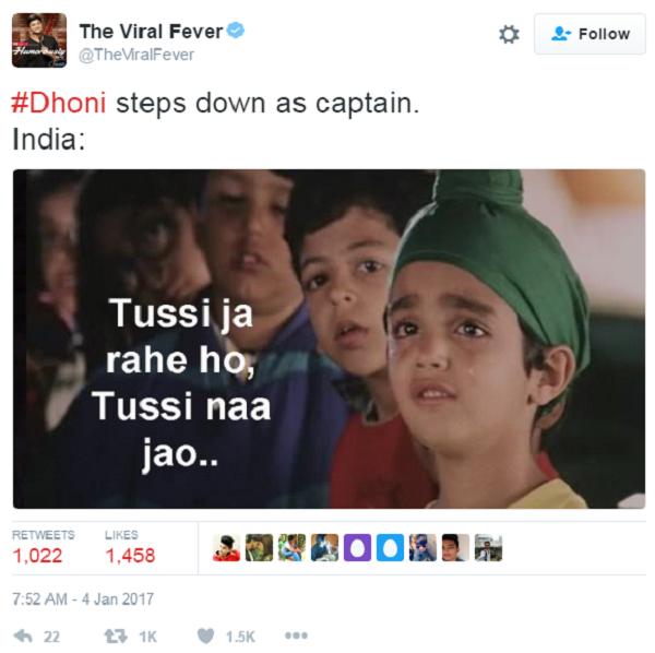 dhoni captain 14