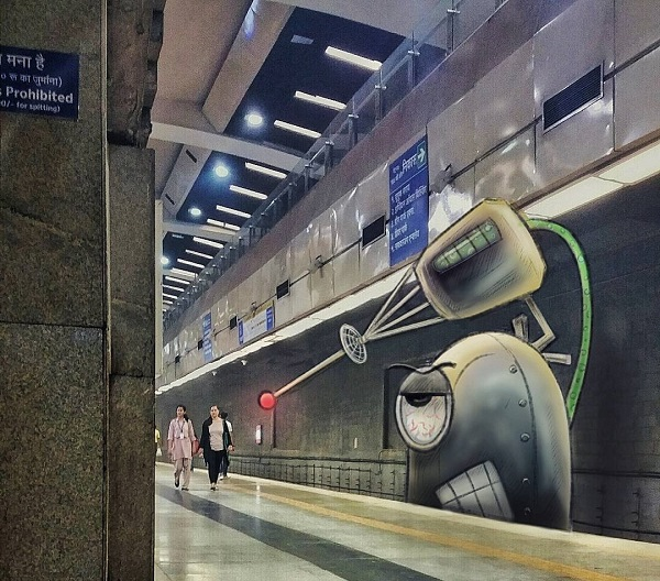 hiding metro